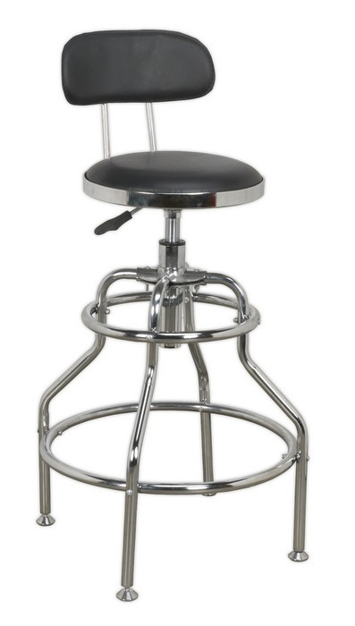 Enjoyable Workshop Stool Pneumatic With Adjustable Height Swivel Seat Andrewgaddart Wooden Chair Designs For Living Room Andrewgaddartcom