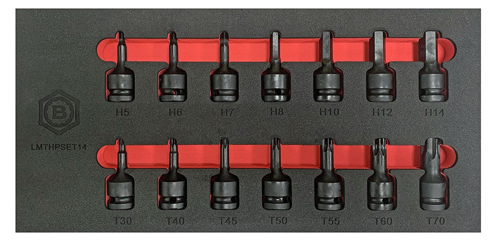 "14PC 1/2"" IMPACT TORX / STAR & HEX / ALLEN BIT SOCKET SET FROM THE BRITOOL HALLMARK RANGE"