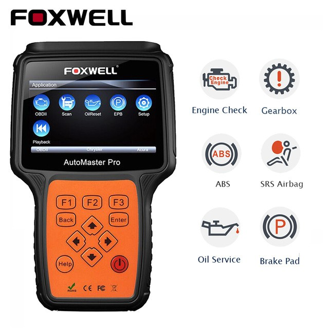 FOXWELL ENGINE, ABS, AIRBAG, GEARBOX, EPB & SERVICE RESET DIAGNOSTIC SCAN TOOL