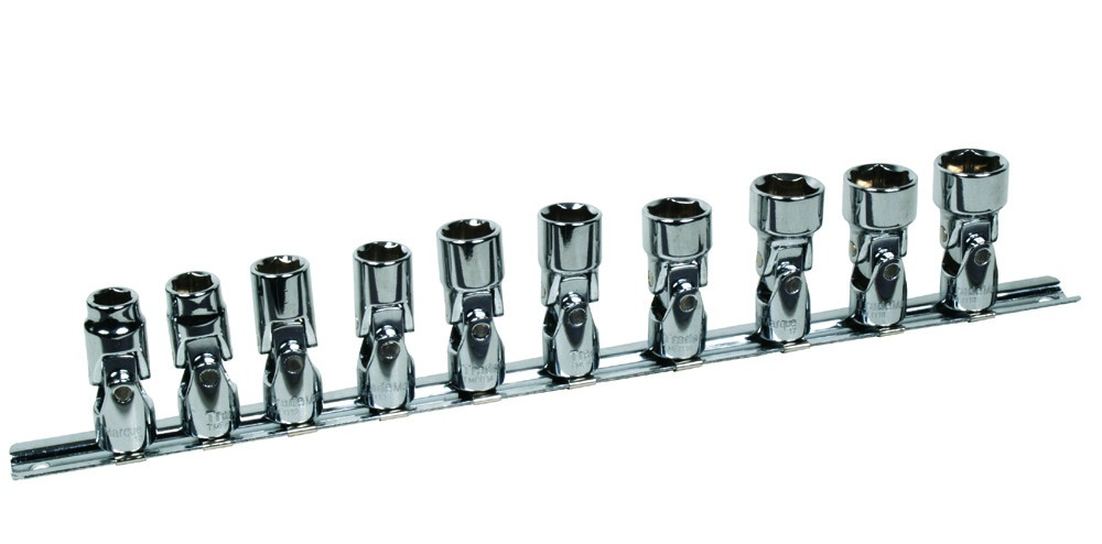 "3/8"" SQ. DR. 10PC FLEXI SOCKET SET 10-19MM"