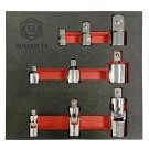 9PC UNIVERSAL JOINT & SOCKET ADAPTOR SET FROM BRITOOL HALLMARK