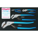 CHANNELLOCK CHLPC1 4 PIECE PIT CREW TONGUE & GROOVE (WATERPUMP) PLIERS SET