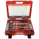 "GENIUS TOOLS AC-2487A 87PC 1/4"" & 1/2"" SOCKET & ACCESSORY SET"