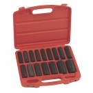"16PC 1/2"" DR. METRIC DEEP IMPACT SOCKET SET GENIUS TOOLS TD-416M"