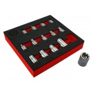 "14PC 3/8"" & 1/2"" E-TORX / STAR SOCKET SET E4-E24 FROM THE BRITOOL HALLMARK RANGE"