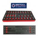 "32PC STANDARD & DEEP 3/8"" IMPACT SOCKET SET + EXTENSION BAR SET FROM BRITOOL HALLMARK"