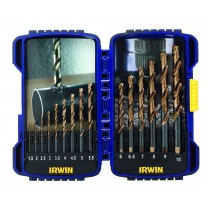 15 PIECE TURBOMAX DRILL BIT SET 1.5-10MM IRWIN TOOLS
