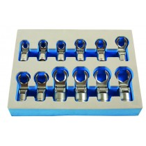 FLEXIBLE CROWS FOOT SET 6 POINT / HEX OPEN JAW DESIGN SET FROM LASER TOOLS