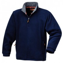 BLUE QUATER ZIP UP PULLOVER TOP FROM BETA TOOLS SIZE LARGE - 7631BLU/L