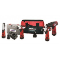 ACDELCO 4PC 10.8V CORDLESS POWER TOOL COMBO KIT