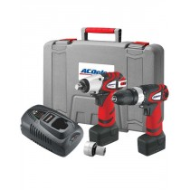 18V HAMMER DRILL + IMPACT WRENCH COMBI KIT FROM ACDELCO ARK2096I-3