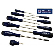 COMBINATION SCREWDRIVER SET PH, PZ, SLOTTED 10 PIECE BRITOOL HALLMARK BSDSET10