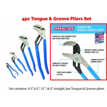 4PC PIT CREW TONGUE & GROOVE (WATERPUMP) PLIERS SET FROM CHANNELLOCK