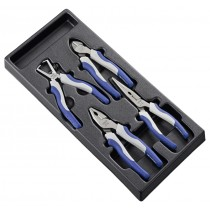 4 PIECE PLIER SET MODULE FROM EXPERT BY FACOM