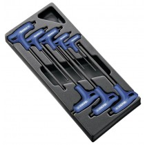 8PC T-HANDLE HEX KEY SETS 2.5 TO 10MM FROM EXPERT BY FACOM