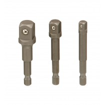 """3PC 1/4"""", 3/8"""" & 1/2"""" NUT SPINNER SET (FOR ELECTRIC DRILL) GENIUS TOOLS BE-2343P"""