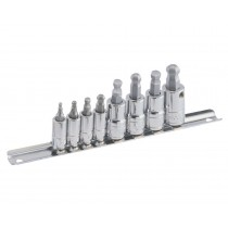 "7 PIECE 3/8"" SPLINE XZN BIT SOCKET SET GENIUS TOOLS BS-307M"