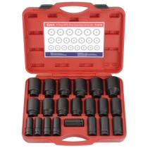 "17 PIECE 3/4"" DRIVE IMPACT SOCKET SET GENIUS TOOLS IS-617M"