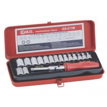 "17 PIECE 1/4"" SOCKET SET (6 POINT) 3-14MM FROM GENIUS TOOLS"