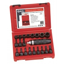 "21PC 3/8"" DR. METRIC IMPACT DRIVER SET (CR-MO) GENIUS TOOLS ID-321M"