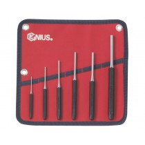 6PC METRIC PIN / PARALLEL PUNCH SET GENIUS TOOLS PC-566MP
