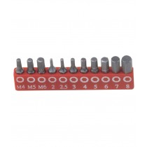 11PC ALLEN / HEX / TRIPPLE SQUARE / SPLINE BIT SET FROM GENIUS TOOLS IN CANADA