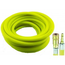HI-VIS AIR HOSE / AIRLINE 10 METRES 10MM DIAMETER FROM PCL