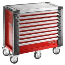 9 DRAWER WIDE RED ROLL CAB JET RANGE FROM FACOM