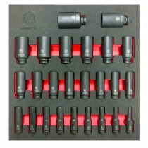 "BRITOOL HALLMARK 25PC 1/2"" DRIVE DEEP IMPACT SOCKET SET SIZES 8-36MM LDHMPSET836"