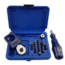 "3/8"" PALM RATCHET & BIT SET SET + FREE BIT DRIVER SET CONTAINS PZ, PH, TRX, ALLEN BITS"