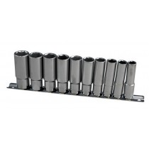 "3/8"" DEEP SOCKET SET ON A RAIL 10-19MM BRITOOL HALLMARK MDHMSET10"