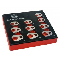 """10PC 3/8"""" DRIVE CROW'S FOOT SPANNER / WRENCH SET 10-19MM FROM BRITOOL HALLMARK,"""