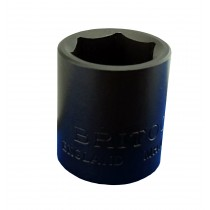 "3/8"" SD STANDARD IMPACT SOCKET 1/2"" AF BRITOOL ENGLAND MHP500"