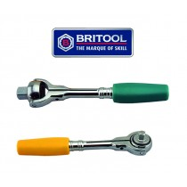 "BRITOOL HALLMARK 3/8"" & 1/4"" SWIVEL HEAD RATCHETS MRFFTG + SRFFTY"