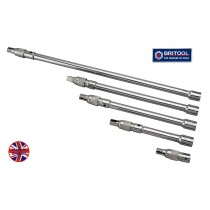 "1/2"" DR LOCK-ON EXTENSION BAR SET BRITOOL HALLMARK LELSET3"