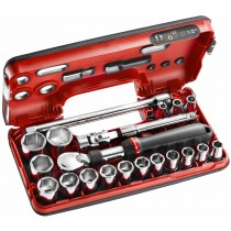 "1/2"" SOCKET, EXTENDING RATCHET, UJ & EXTENSION BAR SET FROM FACOM"