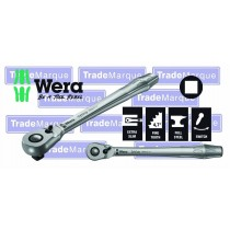 "1/2"" DRIVEZYKLOP RATCHET 281MM LONG WITH SWITCH LEVER ZYKLOP FROM WERA TOOLS 8004C"
