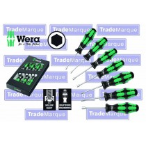 HOLLOW SHAFT NUT DRIVER SET 7 PC 5-13MM KRAFTFORM PLUS FROM WERA TOOLS 395 HO