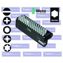 """30PC SCREWDRIVER BIT SET WITH 1/4"""" SHANK (TORX, POZIDRIV, PHILLIPS, SLOTTED, HEX) FROM WERA TOOLS"""