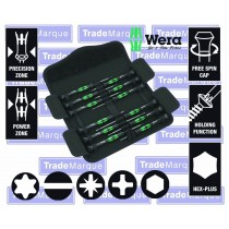 12PC PRECISION SCREWDRIVER SET WITH SLOTTED, PH, HEX & TORX FROM WERA TOOLS