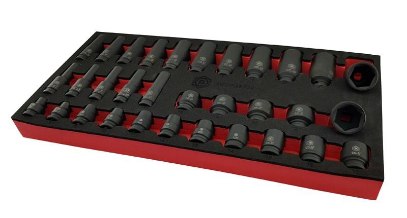 BRITOOL HALLMARK 3 Piece Flexi Ratchet Set in Foam Tray 1//4  3//8  1//2  Drive